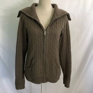 SAKS FIFTH AVENUE 100% Cashmere Sweater Jacket L